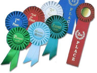 Great ribbons for 4H or livestock fairs